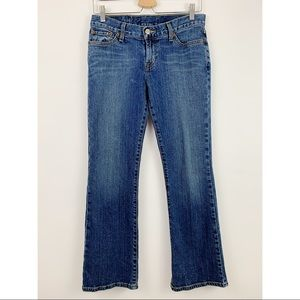 Lucky Brand Dungarees Josie Mid Rise 27 Short Jean